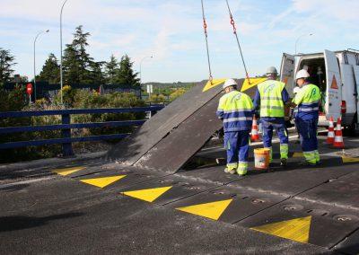 Sustitución de junta en puente, autovía M-40