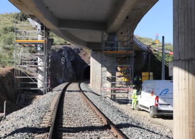 Sustitución de apoyos en el viaducto viejo de Alconétar