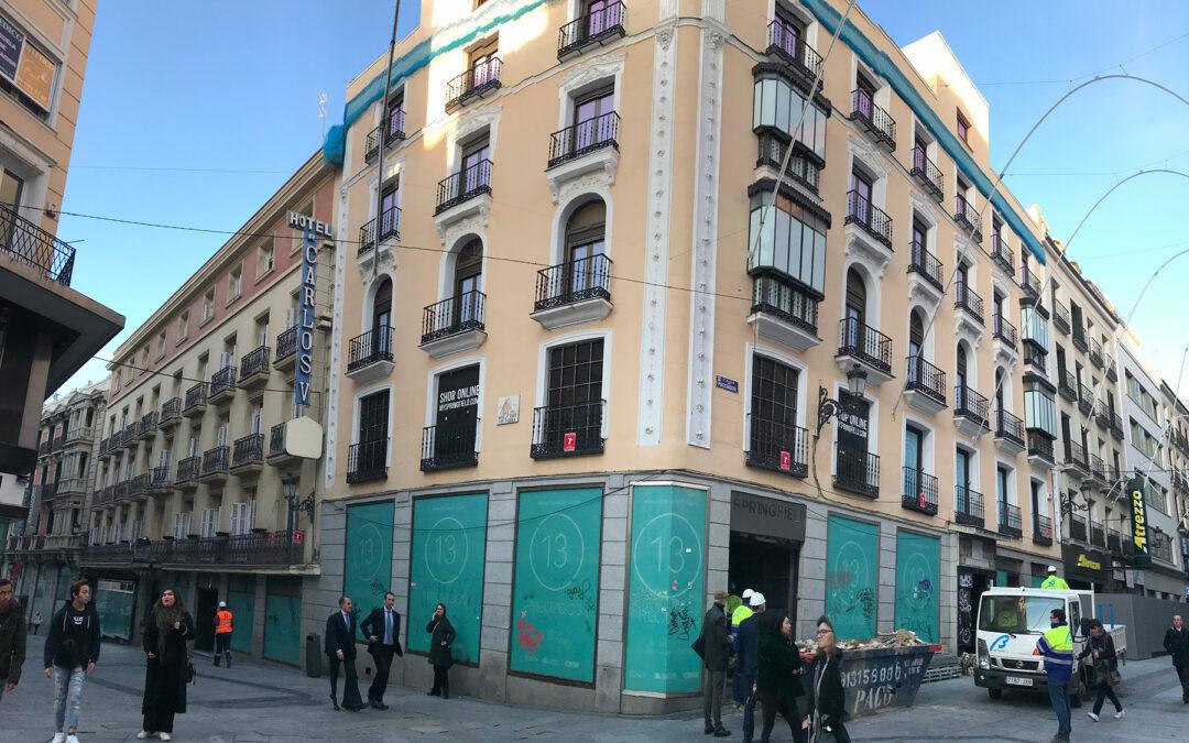 Rehabilitación singular de estructura. Preciados, Madrid